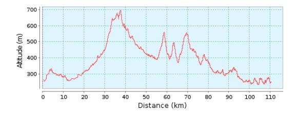 111km Bimbach Profil