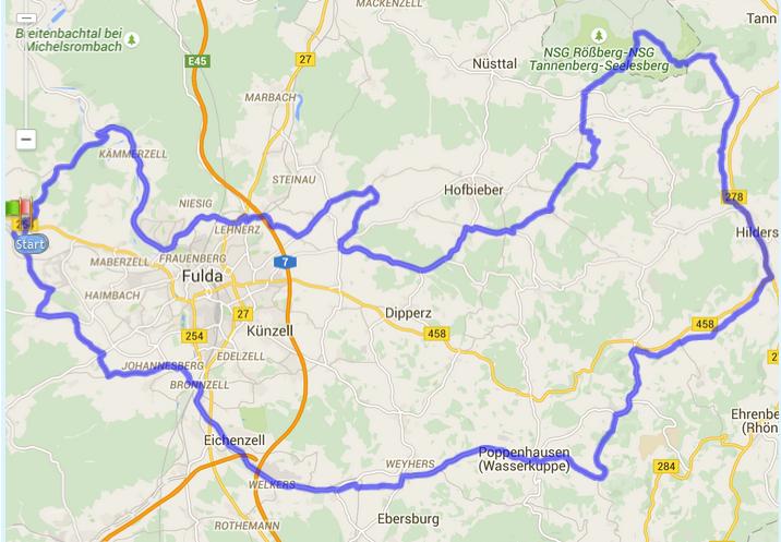111km Bimbach Strecke