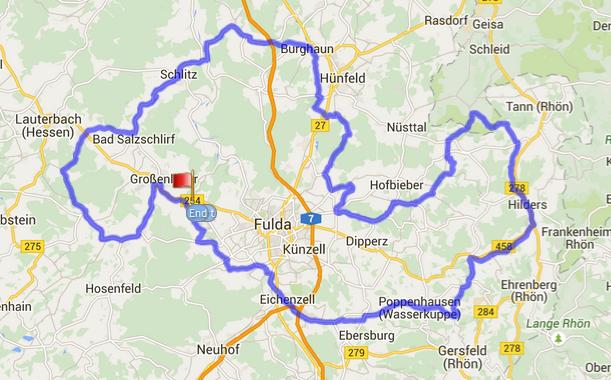 160km Bimbach Strecke