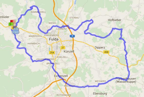 75km Bimbach Strecke